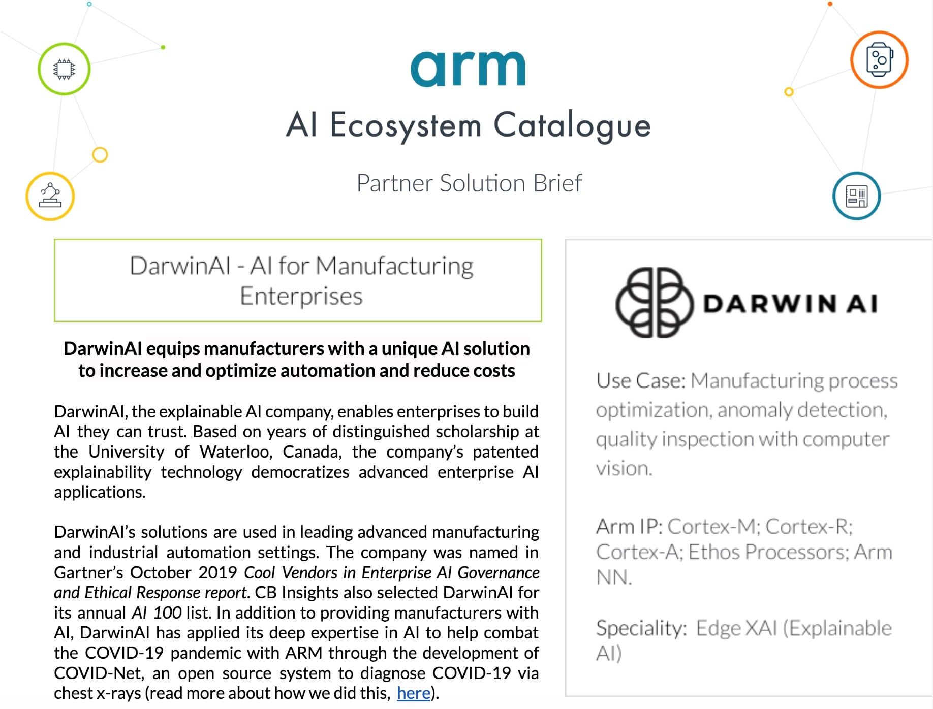 DarwinAI - Manufacturing XAI At The Edge