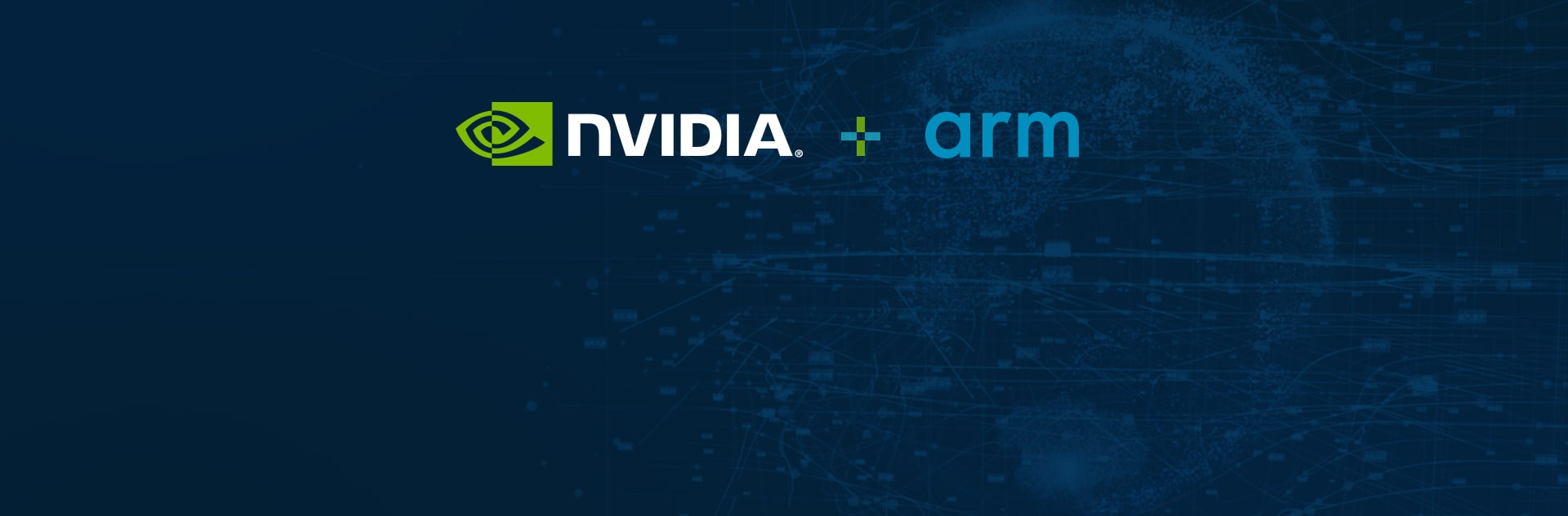 Banner with NVIDIA and Arm logos