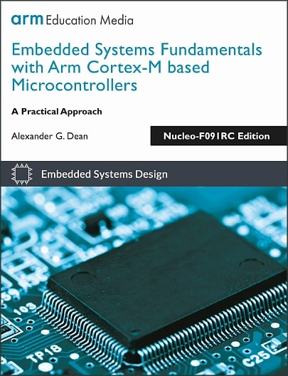 Textbook Cover: Embedded Systems Fundamentals, Nucleo-F091RC Edition