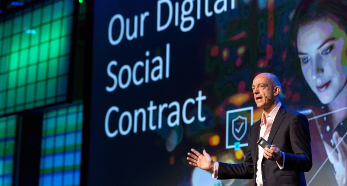 Segars launching the Arm Security Manifesto and digital social contract in 2017