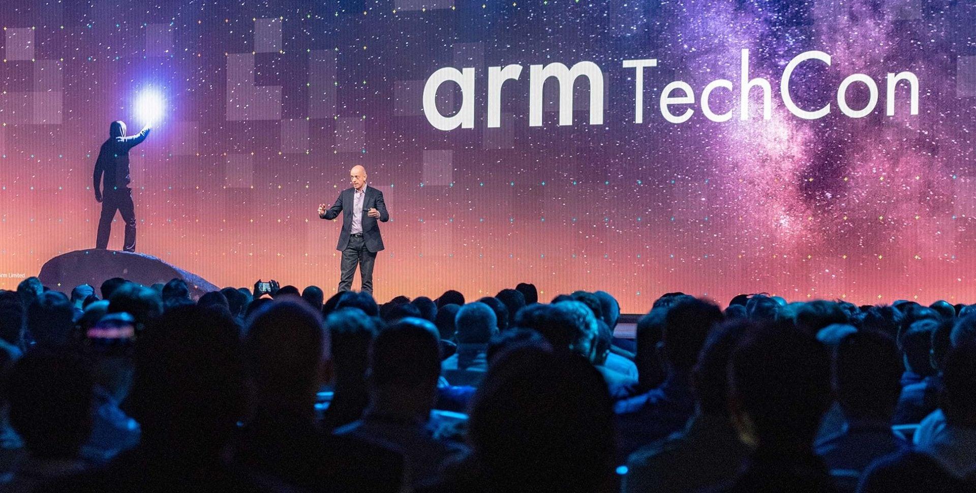 Simon Segars on stage at Arm Techcon 2018