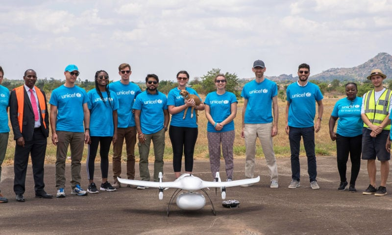 Arm and UNICEF Drones