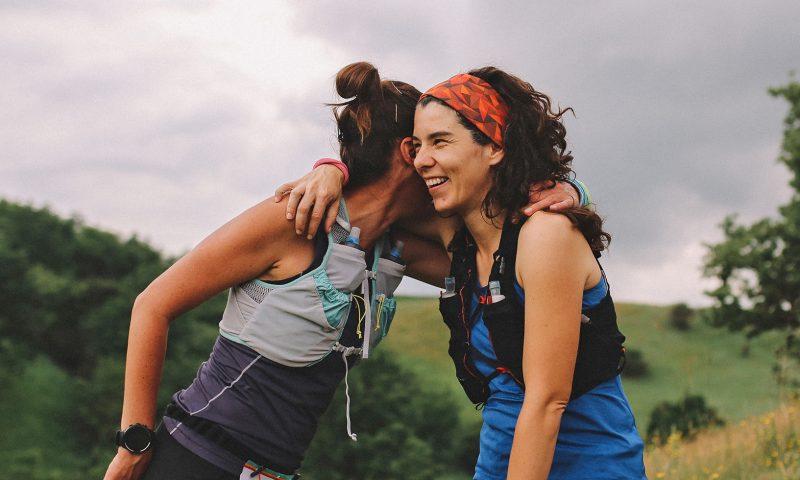 Runners Embracing